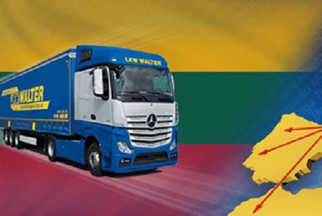 Фура транспортирующая груз с Литвы в Россию
